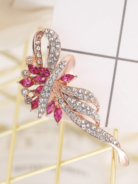 Fancy Alloy Met Strass Dames Broche