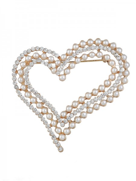 Eternal Love Alloy Met Strass/Imitatieparel Dames Broche